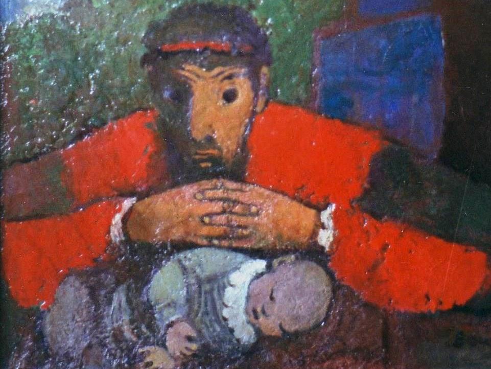Karl Bauer 022 David und sein krankes Kind-1