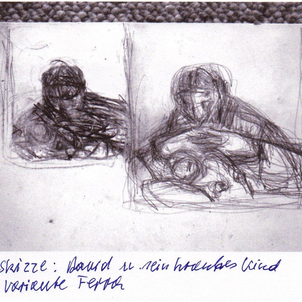 Vorstudie David und sein krankes Kind  | (c) Bauer